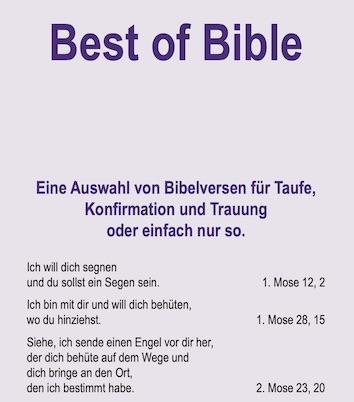 Bibelverse zum Aussuchen